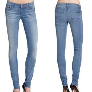 7 For All Mankind Light Denim Roxanne Skinny Jeans